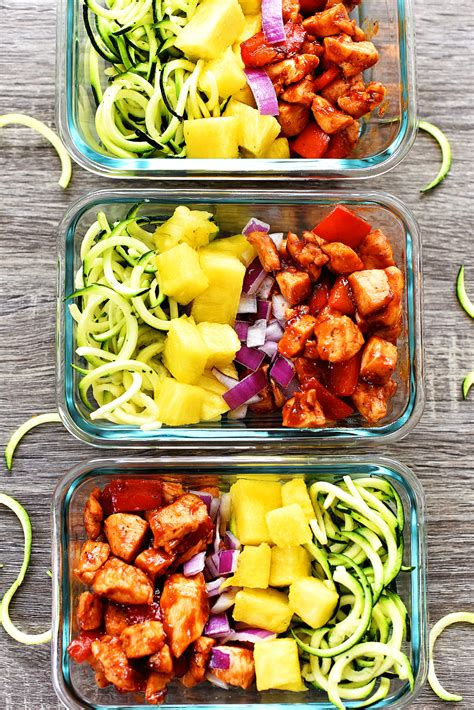 glass lunch containers hawaiian chicken meal prep bowls in the lofthouse