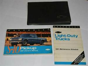 1991 Chevrolet S10 Pickup Truck Owners Manual Guide Book