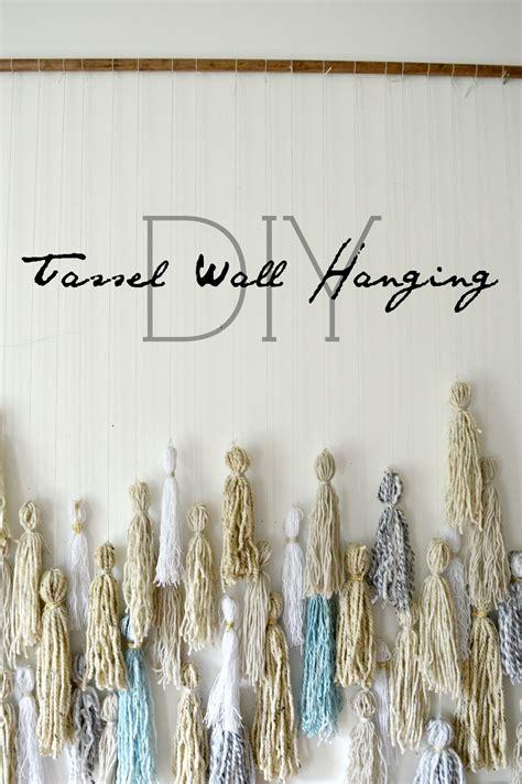 diy tassel wall hanging stylemutt home  home decor