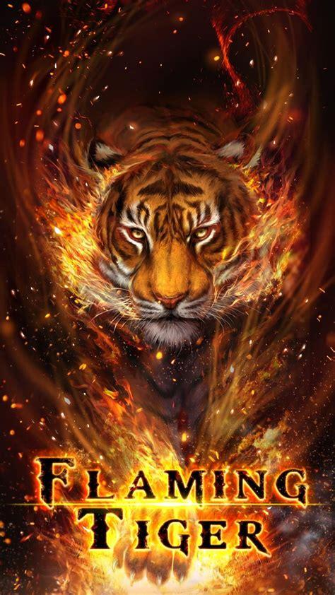 cool fire tiger flame tiger flaming tiger  wallpaper