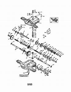Transaxle Diagram  U0026 Parts List For Model 425014x92e Murray