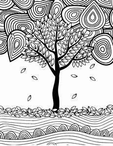 12 Fall Coloring Pages for Adults {Free Printables