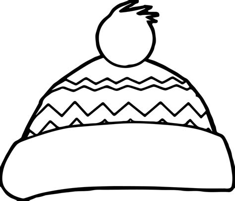 winter snow hat coloring page wecoloringpage