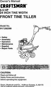 Craftsman Front Tine  Gas Tiller Manual 99030715