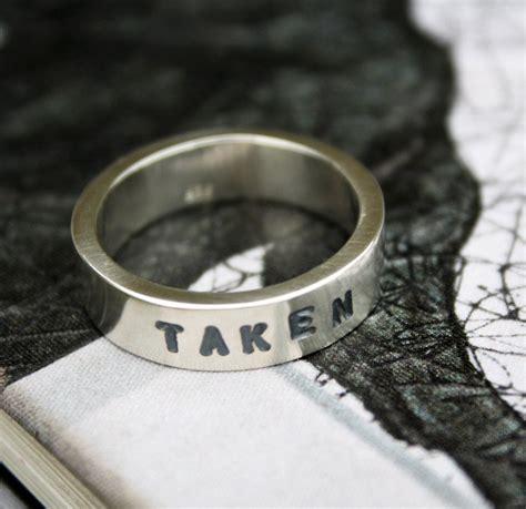 unique mens wedding ring taken ring chunky sterling promise ring boyfriends gift