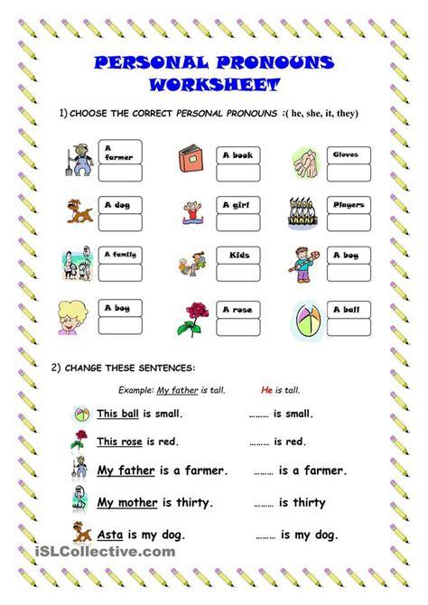personal pronouns worksheet kindergarten level learn