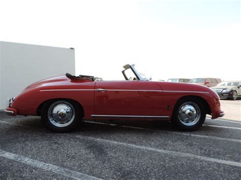 convertible porsche red 1959 porsche 356 convertible d ruby red with tan restored