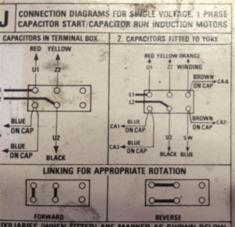 wiring diagram of capacitor start single phase motor single phase motor wiring diagram with capacitor start