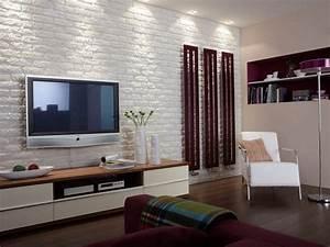 Mur Brique Salon : parement pierre avec plaquettes de pierre naturelle ou ~ Zukunftsfamilie.com Idées de Décoration