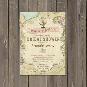 25 best ideas about travel bridal showers on pinterest With wedding invitation wording journey