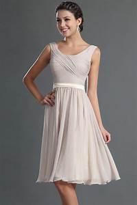 robe courte genoux couleur tourterelle pour cocktail de With robes courtes pour mariage