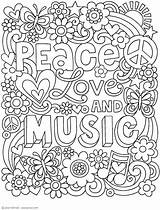 Adult Coloring Peace Doodles Notebook Printable Activity Jess Volinski Colouring Books Doodle Mandala Disney Thaneeya Quote Mcardle Quotes Seniors A4 sketch template