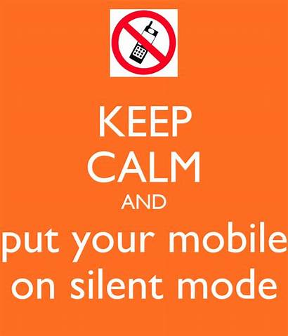 Silent Mode Mobile Keep Put Calm Poster
