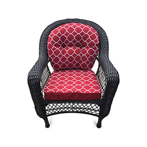 wilson fisher 174 nantucket resin wicker chair with cushion