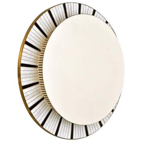 illuminated  mirror edged  black  white