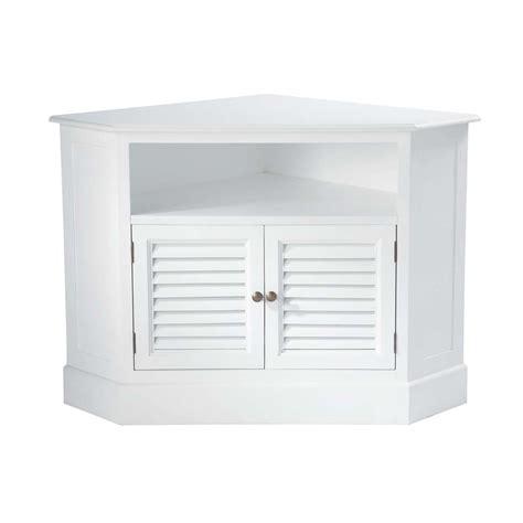 deco chambre bebe design meuble tv d 39 angle en bois blanc l 75 cm barbade maisons