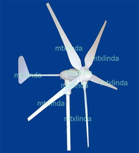 gigu wind turbine generator kit 1 5 kw max 12v 24v 48v 5 blades 1 2 kw new ebay