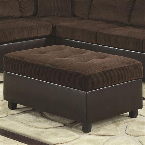 Coaster 503014 Brown Fabric Ottoman Steal A Sofa