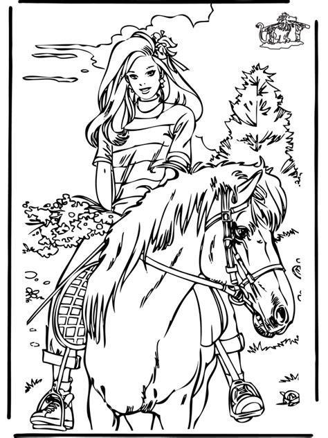 Paardrijden Kleurplaat by Kleurplaat Paardrijden Kleurplaten Paarden