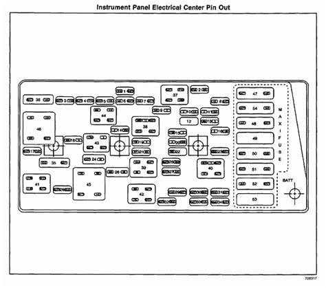 2000 Corvette Fuse Panel Diagram by Need The Fuse Layout For Fuse Box Located The Carpet