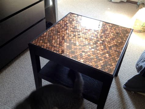 give  coffee table  makeover  pennies