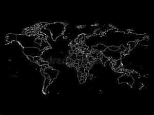 Carte Du Monde Noir : carte du monde avec des fronti res de pays contour blanc ~ Teatrodelosmanantiales.com Idées de Décoration