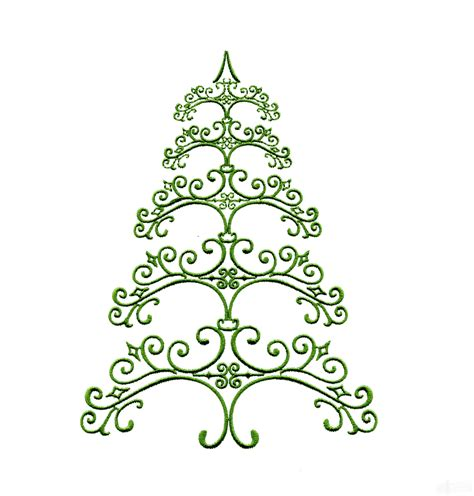 ironwork 2 christmas tree embroidery design