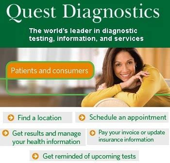 diagnostic quest diagnostics   appointment
