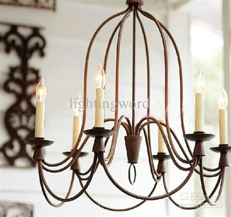 modern nordic wrought iron chandelier living room study