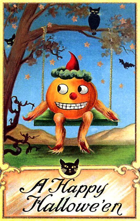 happy halloween vintage greeting card pictures