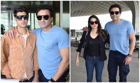 Bobby Deol's Spotted With Family At Mumbai Airport, Son