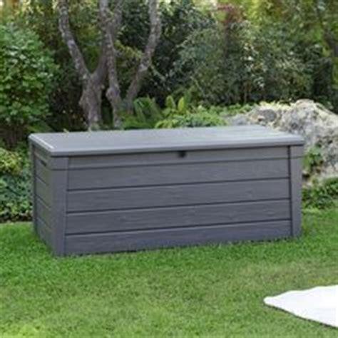 keter rockwood outdoor plastic deck storage container box