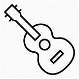 Ukulele Drawing Guitar Icon Instrument Ukelele Uke Music Clip Getdrawings Pngfuel sketch template