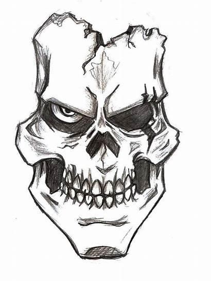 Skull Drawings Easy Joker Drawing Cool Graffiti