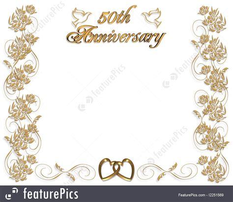 templates wedding anniversary invitation  years stock