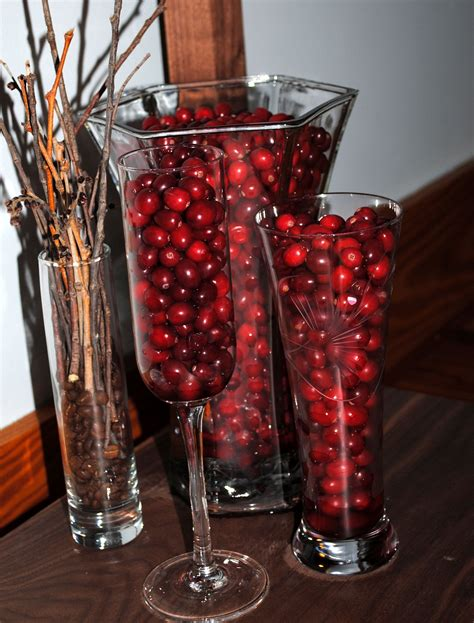 cranberry vase filler home decor wallscenterpieces