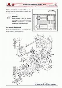 Massey Ferguson Tractors 400 Series  Repair Manuals
