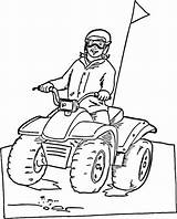 Coloring Pages Wheeler Atv Four Snowmobile Printable Drawing Quads Doo Ski Riding Rides Mortal Fighter Kombat Polaris Three Getdrawings Boys sketch template