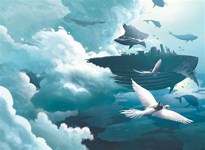 Whale Concept Clouds Surrealism Whales Animation Environment
