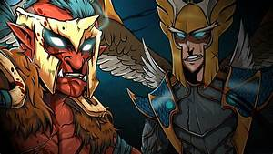 Skywrath Mage & Troll Warlord - DOTA 2 Wallpapers