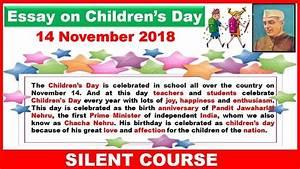 Essay on Children's Day In English 2018 | 14 November 2018 ...
