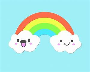 """Cute Clouds and Rainbow"" by KookyCool Redbubble"