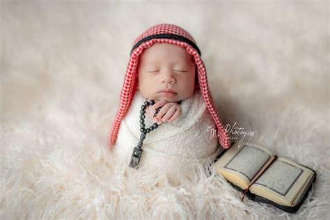 inspirasi photoshoot bayi  tema islami