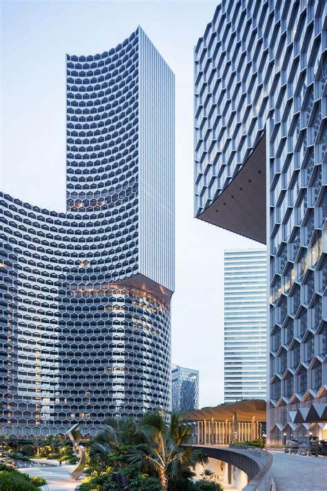 Buro Ole Scheeren Completes Duo Twin Towers With Honeycomb