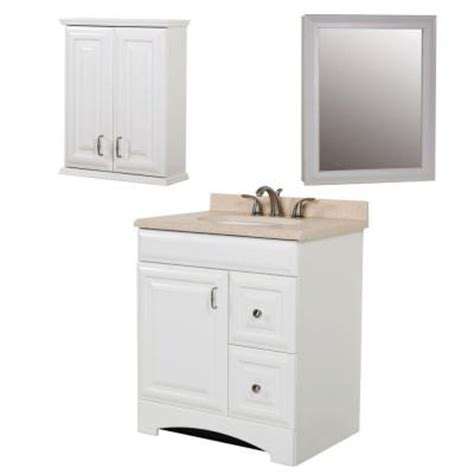 home depot bathroom cabinet white st paul providence bath suite with 30 in vanity with