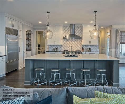 remodel kitchen island white shaker cabinets large kitchen island kemper