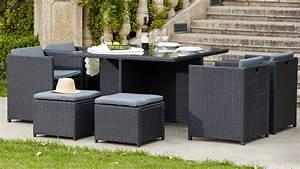 Salon De Jardin Encastrable 8 Places : salon de jardin en r sine fauteuil encastrable ~ Melissatoandfro.com Idées de Décoration