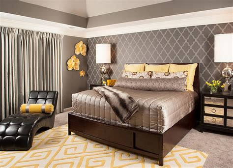 grey  yellow bedrooms decorating ideas eva