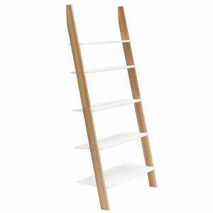 étagère échelle Bois : etagere echelle murale blanche bois ragaba ashme ragabald21 ~ Teatrodelosmanantiales.com Idées de Décoration