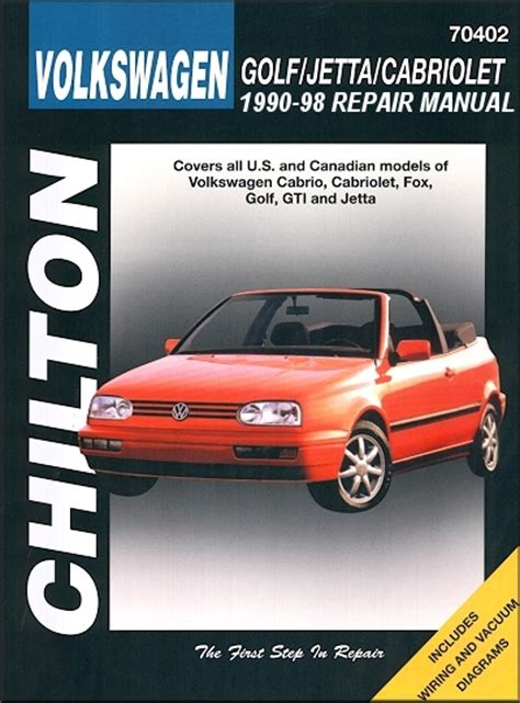 car repair manuals online free 1998 volkswagen new beetle lane departure warning vw golf vw jetta cabriolet repair manual 1990 1998 chilton 70402